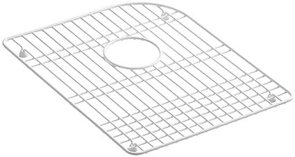amazon com kohler k 6000 st efficiency vinyl coated steel sink rack rh amazon com