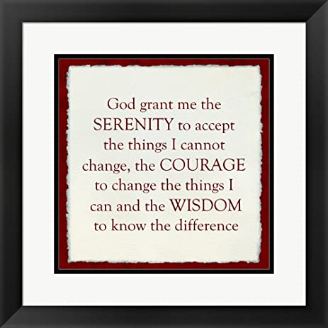 Amazon.com: Serenity Prayer - red frame Framed Art Print Wall ...