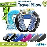 Cloudz Cool Gel & Bamboo Microbead Travel Pillow - Black