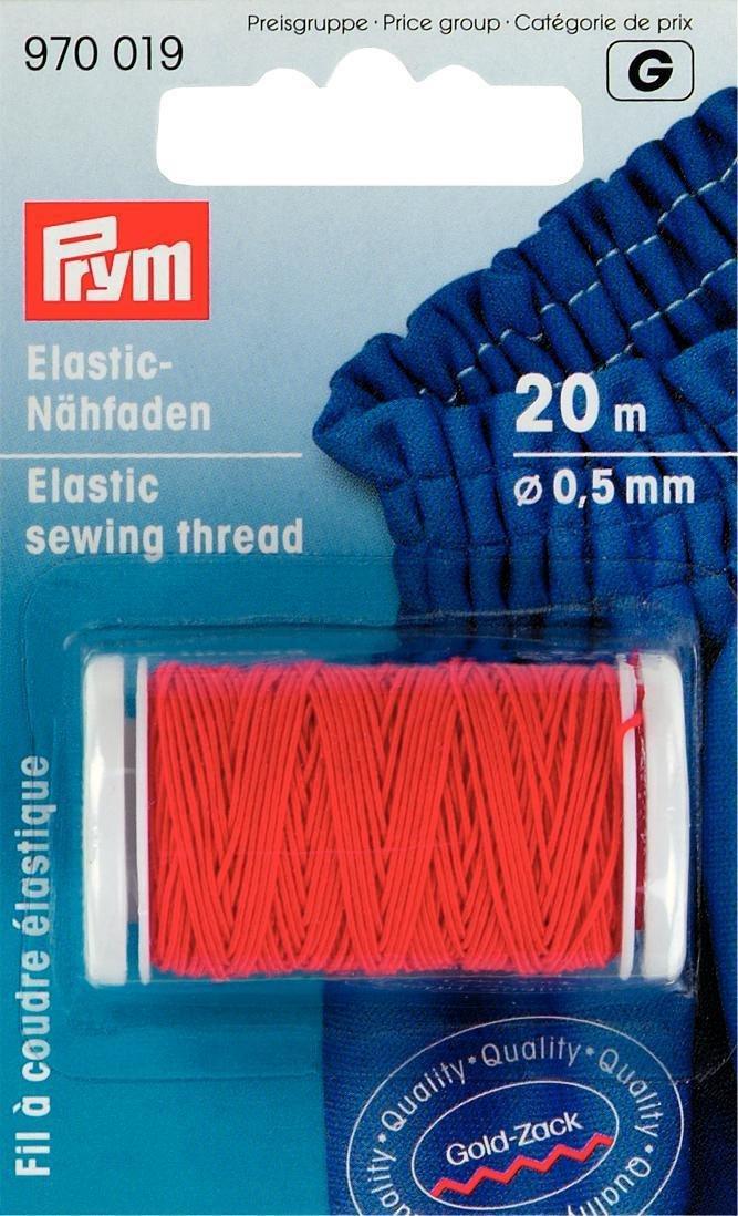 Filo Da Cucire Elastico, Gold Zack, 0,5Mm, L.: 20M, Rosso Prym PRYM_970019-1