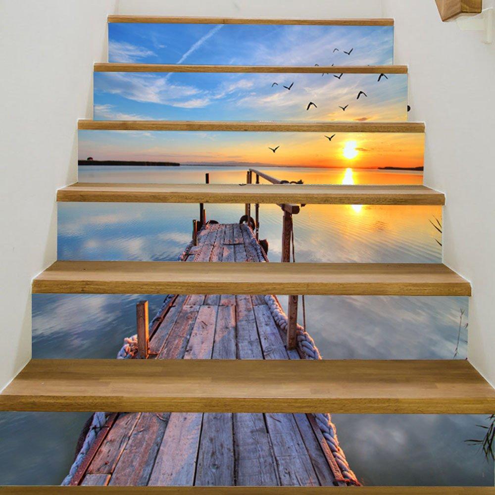 ALLDOLWEGE Das Wohnzimmer einfach Home Renovierung der Treppe-Step ...