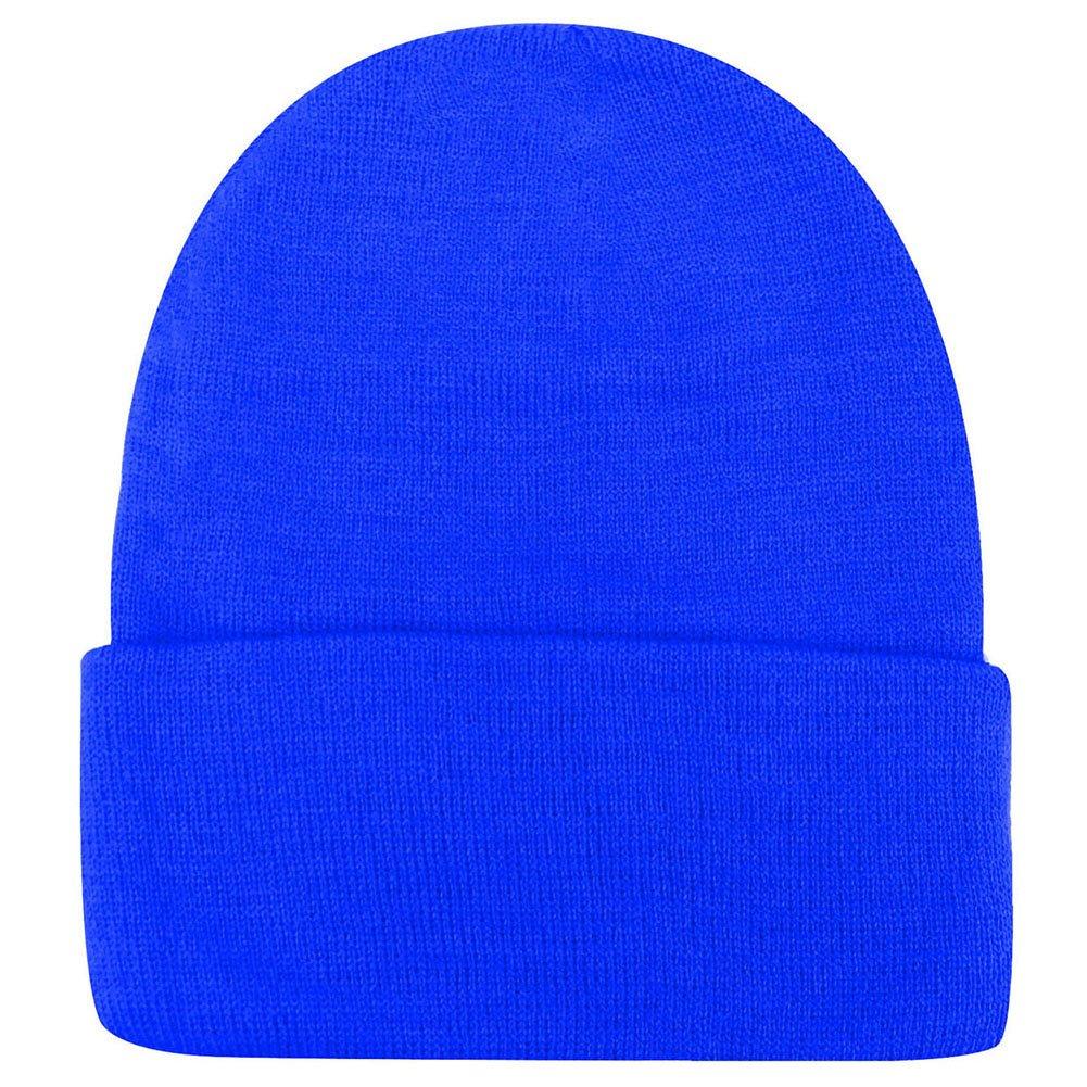 Weixinbuy Unisex Women Warm Plain Beanie Hats Slouchy Cap Blue