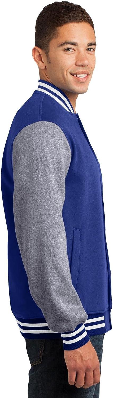 Sport-Tek Mens Fleece Letterman Jacket