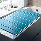 折りたたみ風呂フタ  ブルー 約75×139