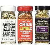 Trader Joe's 21 Salute Seasoning, Everything But The Bagel Seasoning, Chile Lime Seasoning/ 21 Saluer Assaisonnement, Tout Sa