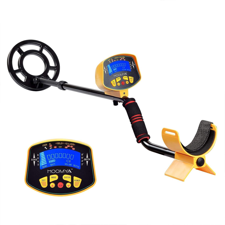 MIDOU Detectores de Metal Ligero para Adultos, Tallo Ajustable y Cazador de Tesoros DE 8, 2 Pulgadas con Pantalla LCD Display-3010: Amazon.es: Jardín