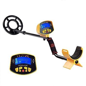 HOOMYA Detectores de Metal Ligero para Adultos, Tallo Ajustable y Cazador de Tesoros DE Búsqueda de tesoros profesionales con Pantalla LCD Display-3010: ...