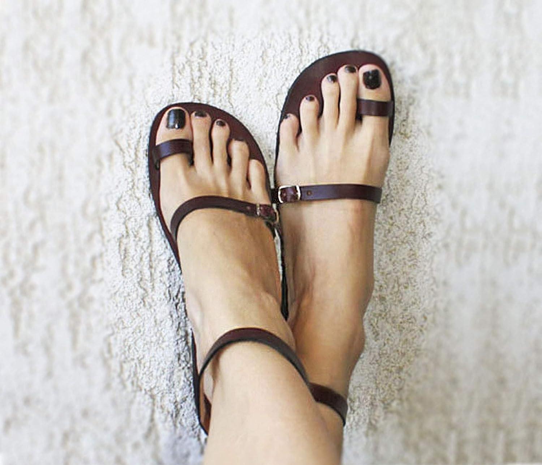 Amazon.com: Toe Ring Sandals Leather