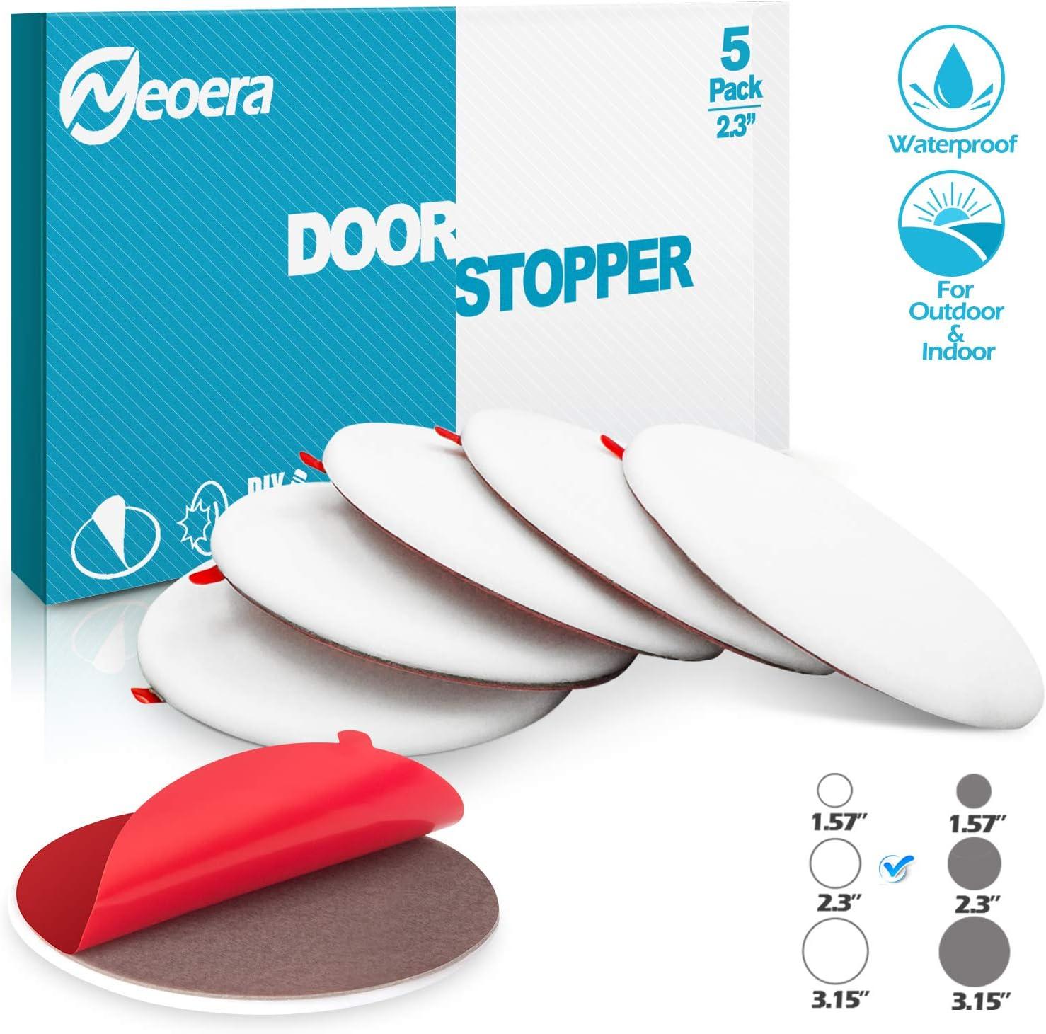 Premium Self Adhesive Door Bumper 3.15 Round Soft Rubber Door Stop Neoera Door Stopper Wall Silicon Wall Protector Gray, 3.15 4 Pack