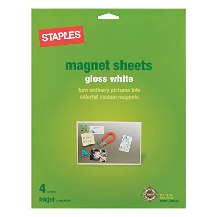 Amazon.com : Inkjet Magnetic Sheets, 8.5 x 11-inches, 4 sheets ...