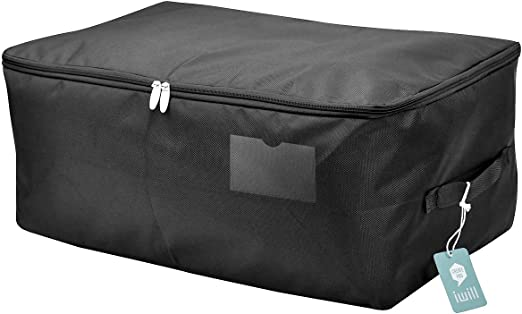 Waterproof Thick Large Organizer Storage Bag with Strong Handles Blanket 27.5/×19.7/×11.8( Set of 2) 27.5/×19.7/×11.8/( Set of 2/) Quilt Clothes Storage Folding Organizer Bag Comforters Under Bed Storage
