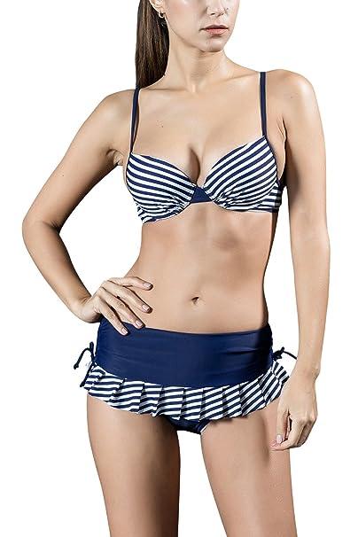 Dolamen Donna Costume Da Bagno con pantaloncini, Due pezzi Bikini ...
