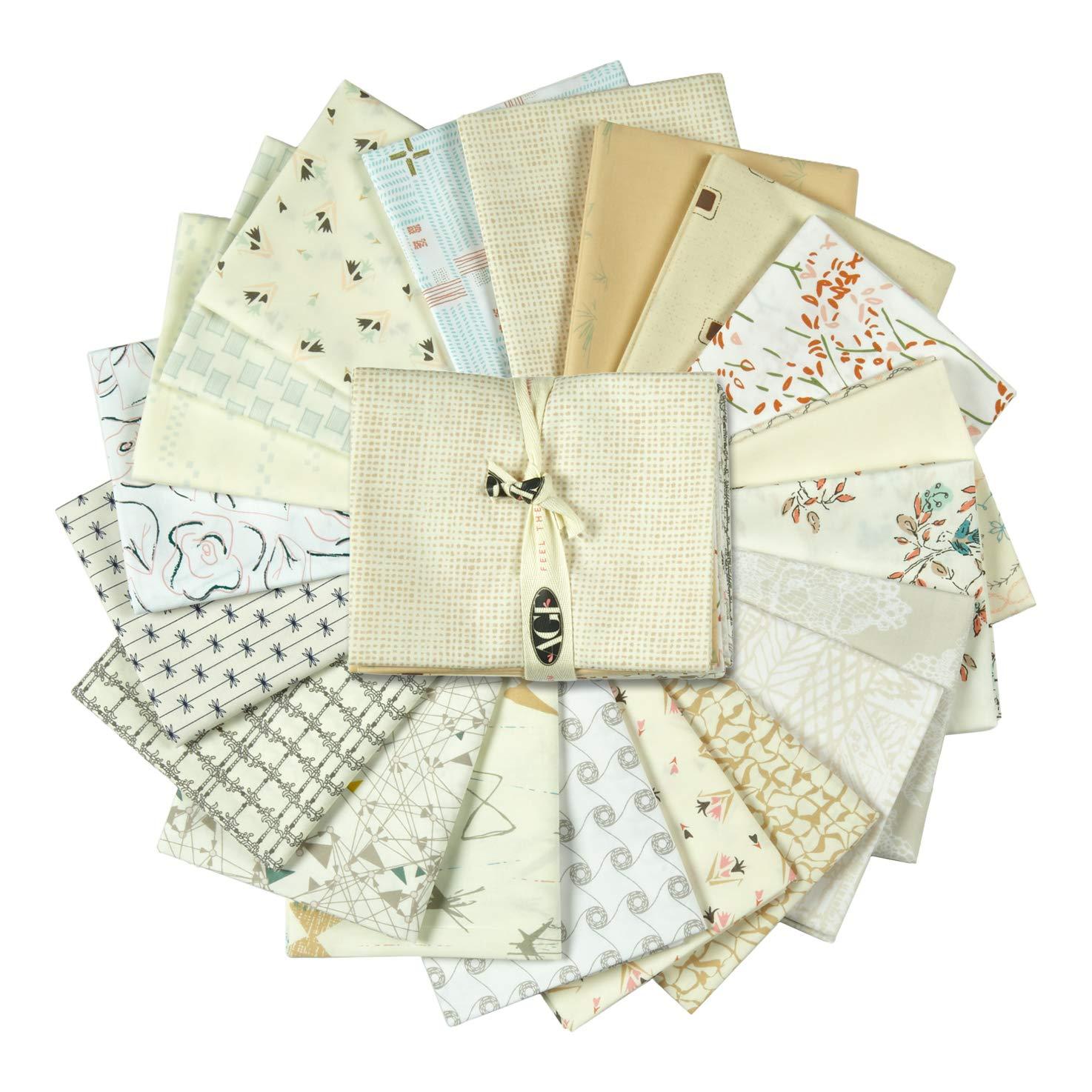 Art Gallery Fabrics Exclusive Bundle 20 Fat Quarters Cream