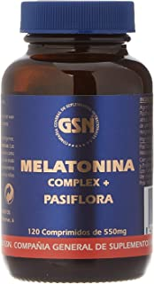 Melatonina Complex con Pasiflora 120 comprimidos de 1 mg de G.S.N. ...