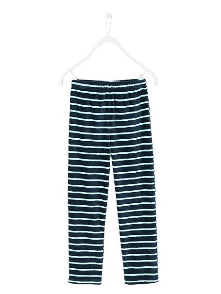 VERTBAUDET Pijama de Terciopelo Niño Azul Oscuro Liso con Adorno 10A