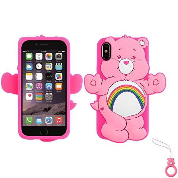 buy online 708c0 1617f Artbling Case for iPhone X XS 10,Silicone 3D Cartoon Animal Cover,Kids  Girls Cute Cases,Kawaii Soft Gel Rubber Unique Fun Cool Character  Protective ...