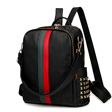 468d86e879f0c2 Amazon.com: Leparvi Mini Cute Backpack Purse PU Leather Women Backpack Bags  Satchel Luxury Totes Ladies Work Rucksack Bag (Medium Black): Clothing