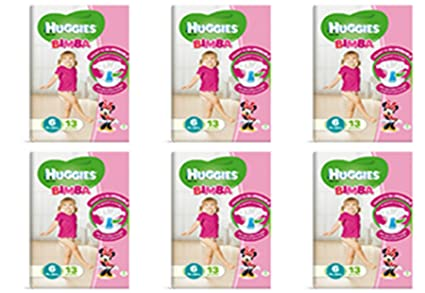 6 X Pannolini para Niña Misura 6 Huggies Infantil Pañal tamaño sexto oferta