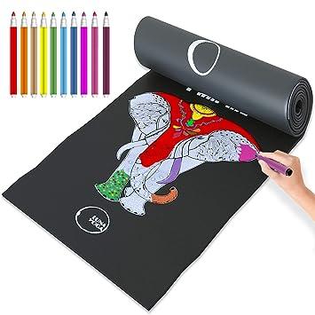Color in Kids Yoga Mats