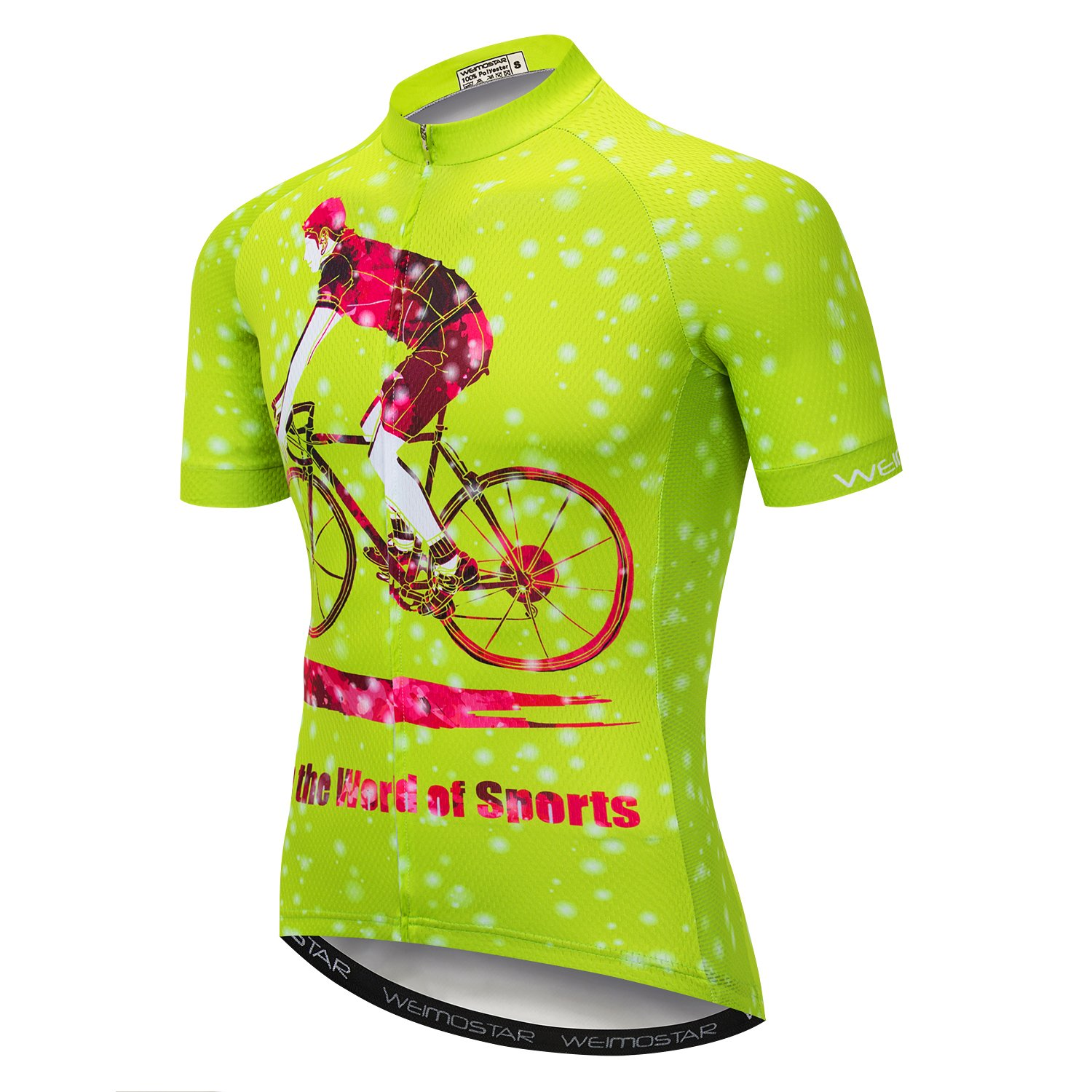 453dcb30b9a Amazon.com   xingrass Men s Cycling Short Sleeve Jersey Comfortable  Breathable Shirts Bike Clothing Tops Full Zip Bicycle Jacket with Pockets  Quick Dry ...