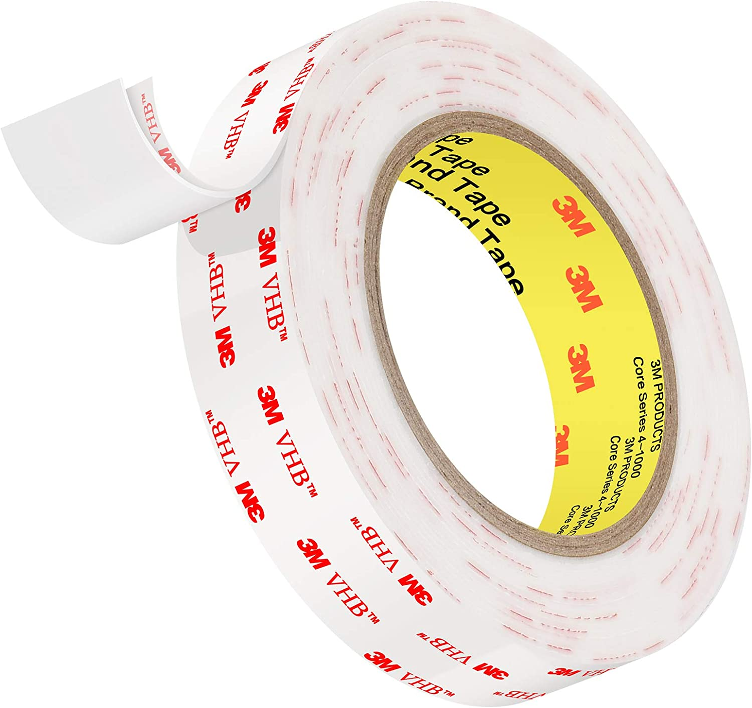 4950 Double Sided Tape, Roseberry Heavy Duty Mounting Waterproof VHB Foam Tape, 16FT Length, 1 Inch Width,1.1mm Thickness for Car, Home and Office Decor
