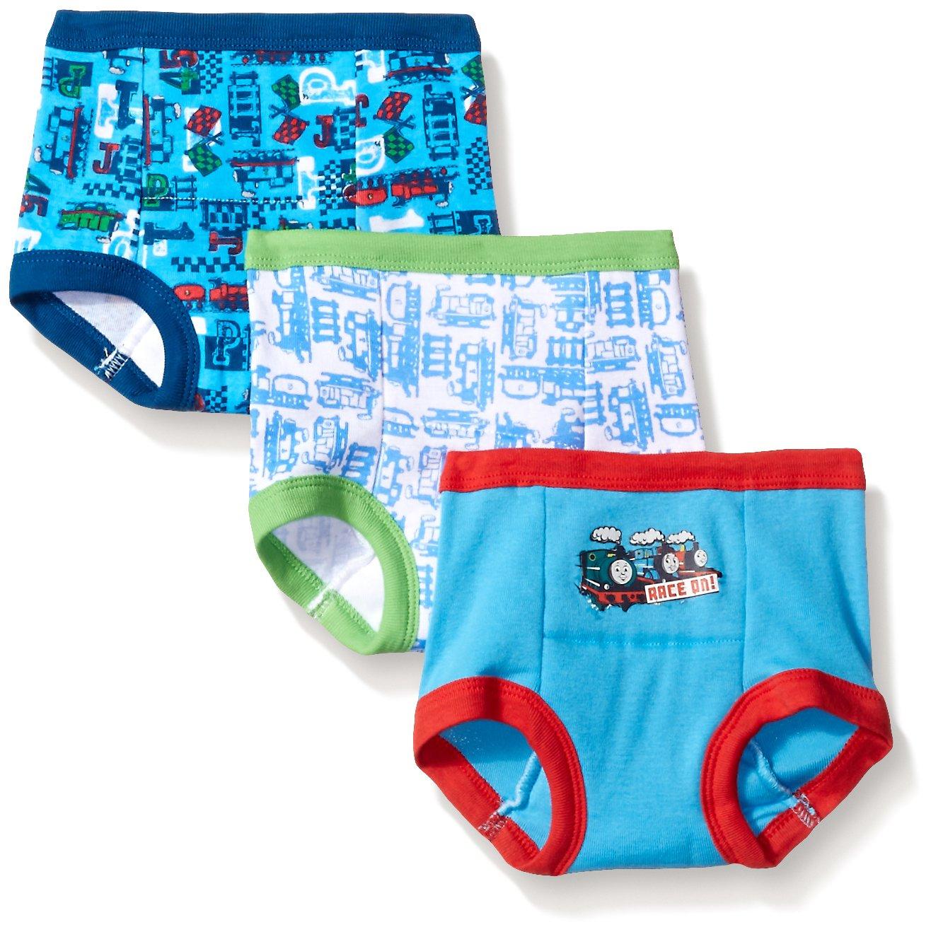 Handcraft Boys' Toddler Thomas 3pk Training Pant, Assorted, 4T