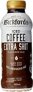 Bickford's Iced Coffee Extra Shot Flavoured Milk, 12 x 500ml