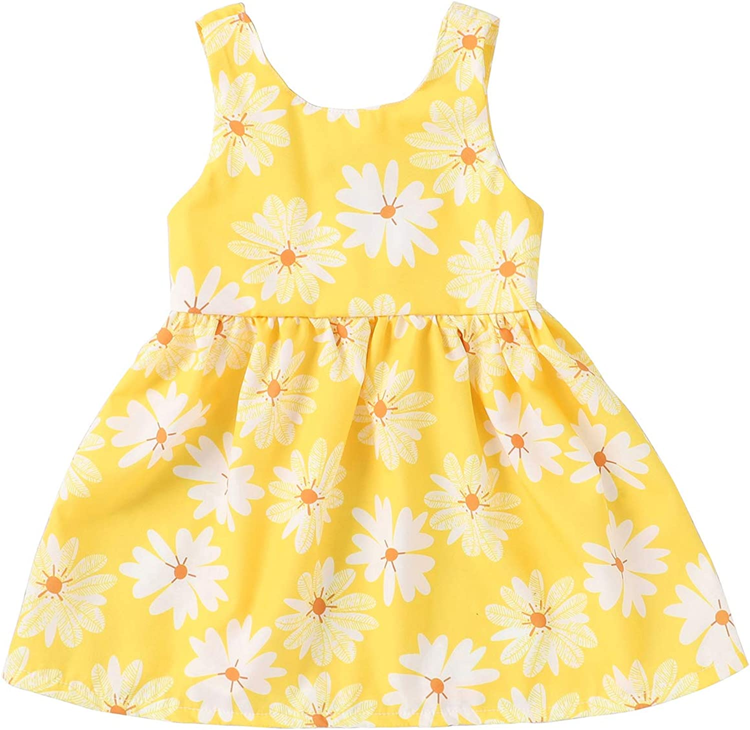 Girl Yellow Flowered Easter Dress Size 8 Special Occasion Dress Sundress Black Yellow Girl Size 8 Spring Summer Cotton Dress for Girls