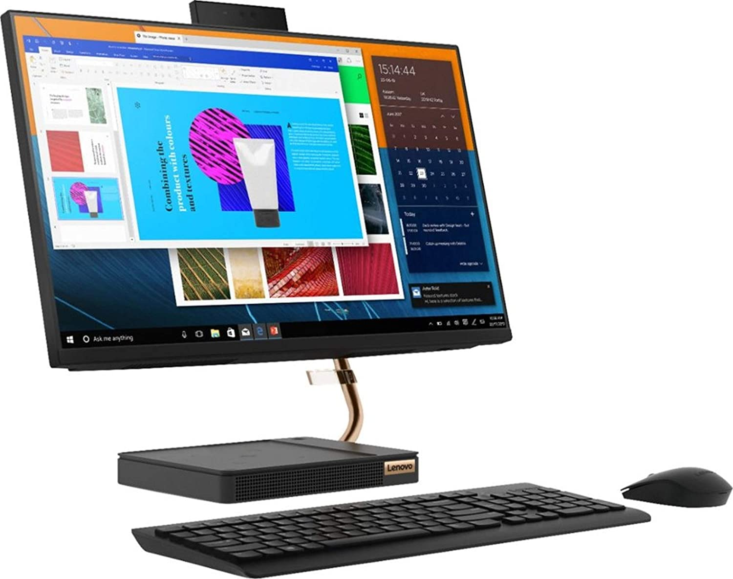 "Lenovo 24"" FHD (1920 x 1080) IPS Touchscreen All-in-One Ideacentre A540 with Intel 8 Core i7-9700T Processor up to 4.30 GHz, 16GB DDR4 RAM, 512GB PCIe SSD, and Windows 10 Pro 64"