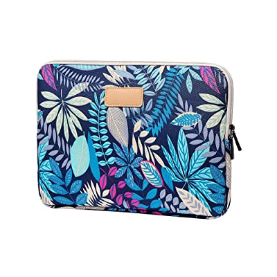 Jia Hu 1Pc Colorful Leaves Laptop Sleeve Briefcase Portfolio Bag Tablet Case College Business Blue