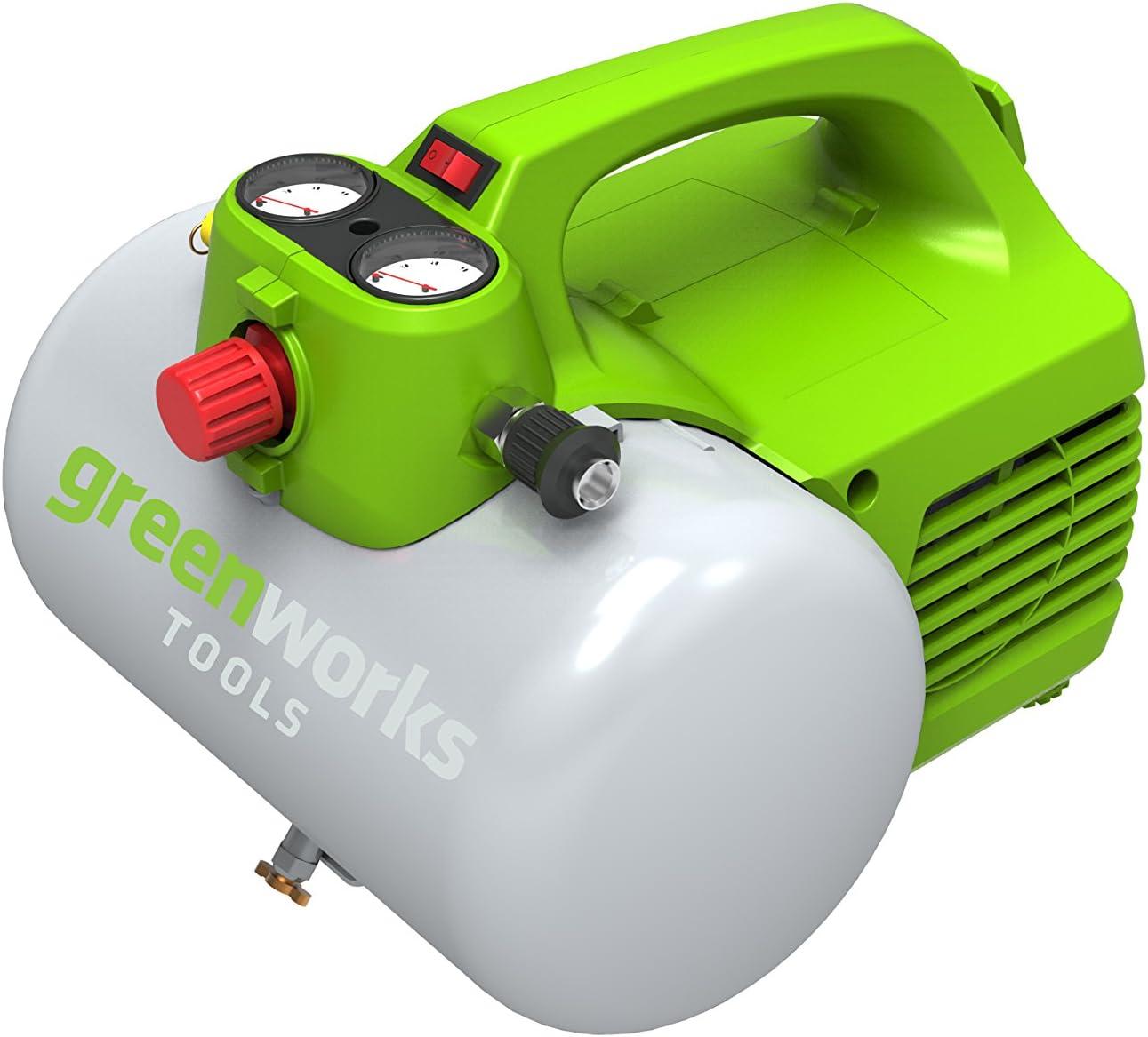 Verde 300 W Greenworks Tools 4101302 Compresor de Aire El/éctrico 230 V