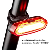 Luz Trasera para Bicicleta Recargable USB, Super Brillante Rojo Luz LED Bici Impermeable, Faro Trasero Bici para Máxima Seguridad de Ciclismo