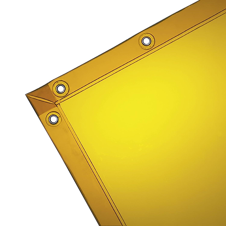 36312 10 // Case Wilson 14-Mil See-Thru Welding Curtain 1 // Bag Standard Grommets 6 x 8 feet Gold Vinyl Curtain