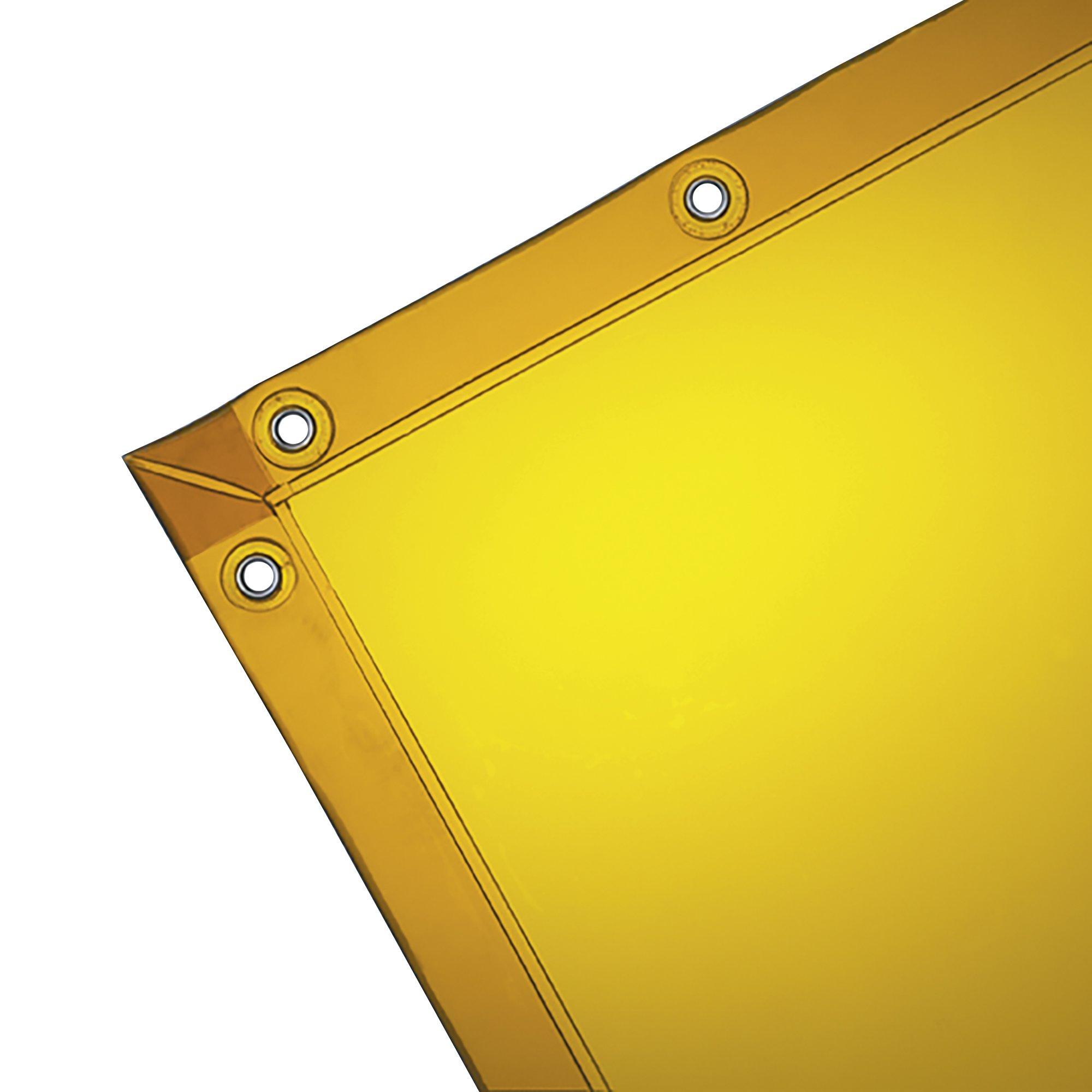 Wilson 14-Mil See-Thru Welding Curtain (36312), 6 x 8 feet, Gold Vinyl Curtain, Standard Grommets, 1 / Bag, 10 / Case by Wilson