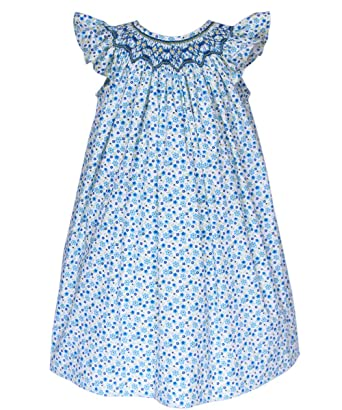 9cd187ddf Amazon.com  Carouselwear Baby Girls Smocked Dress Bishop Style ...