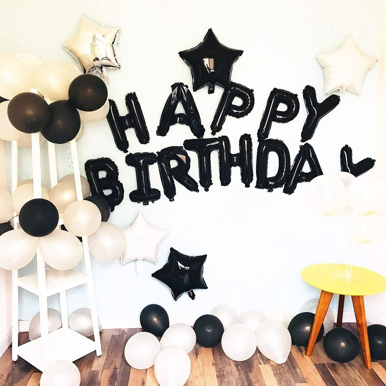 Details about  /Happy Birthday Balloon Banner Bunting Bright colors Letters Foil Balloons Party