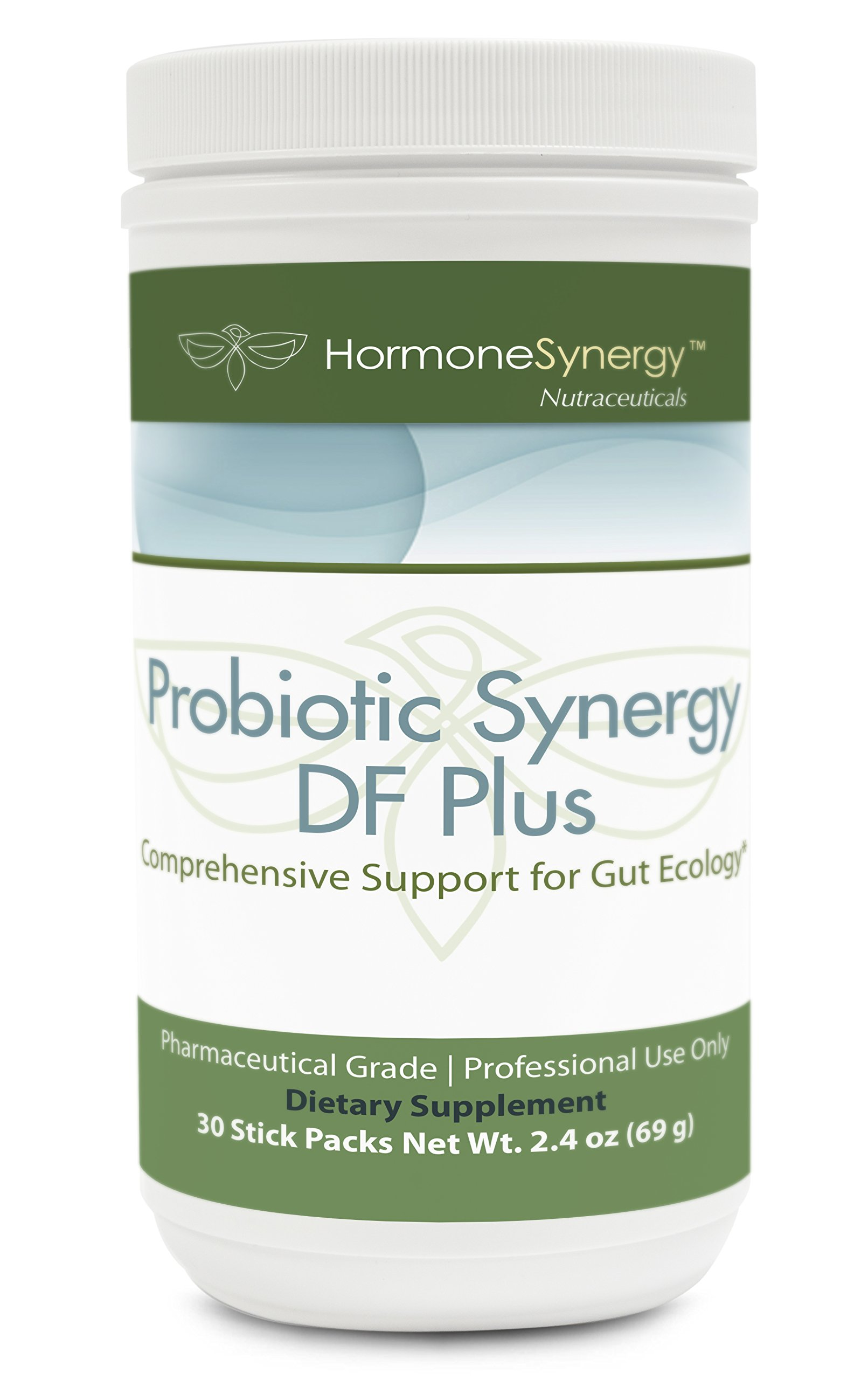 Probiotic Synergy DF Plus | 30 Billion CFU PLUS Saccharomyces boulardii and Arabinogalactan | 30 Stick Packs | Comprehensive Support for Gut Ecology* | Professional Formula | Free eBook