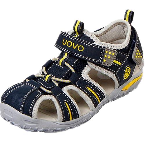 Ultraligero Niño Cuero Con Pu Cómodo Velcro Sandalias Suave Para Y 08wmnOvN