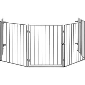Barrière de Sécurité CATO pour cheminée en acier, animal - fermer zones de danger, couleur noir ou argenté