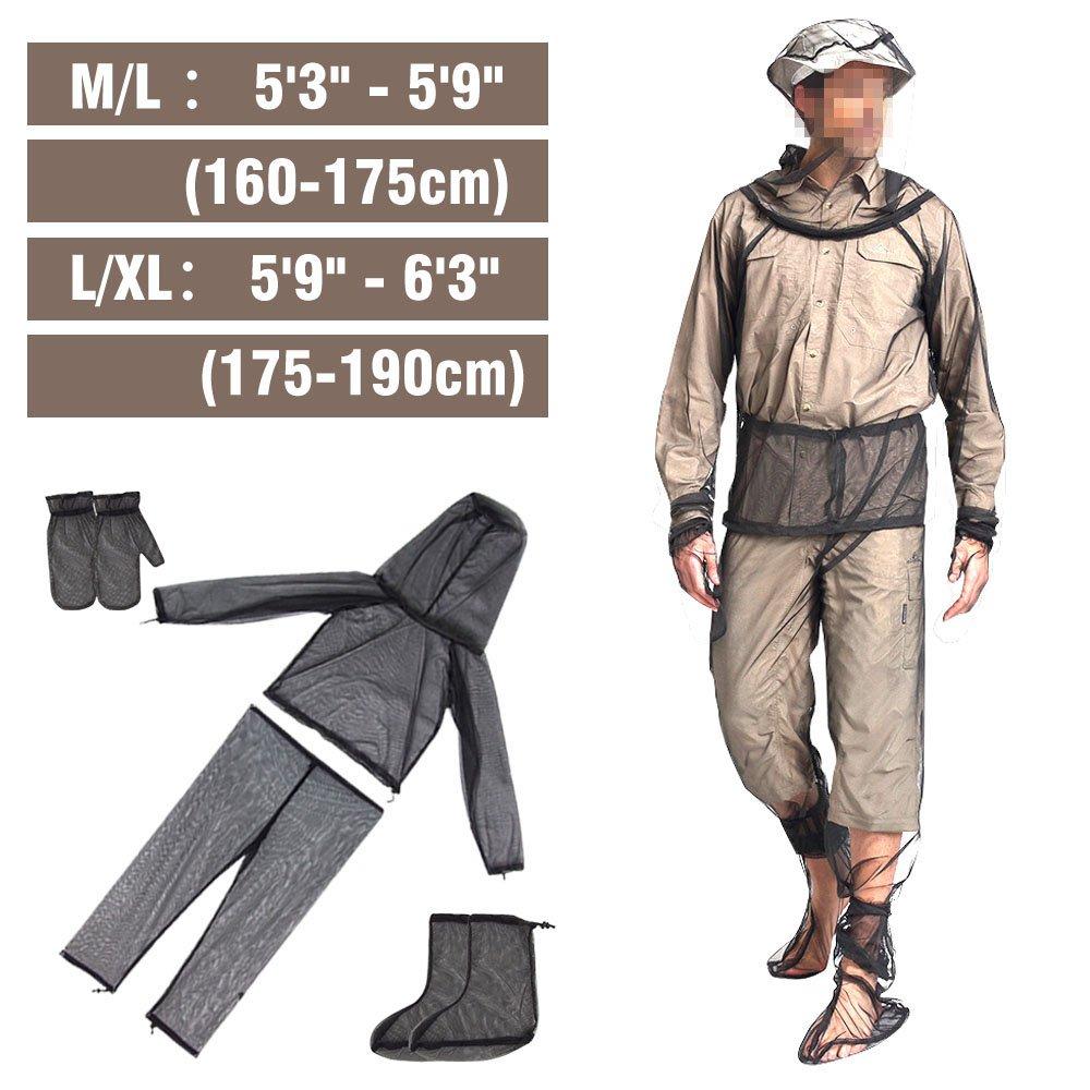 Traje de mosquito - 4 piezas unisex repelente de insectos ropa ...