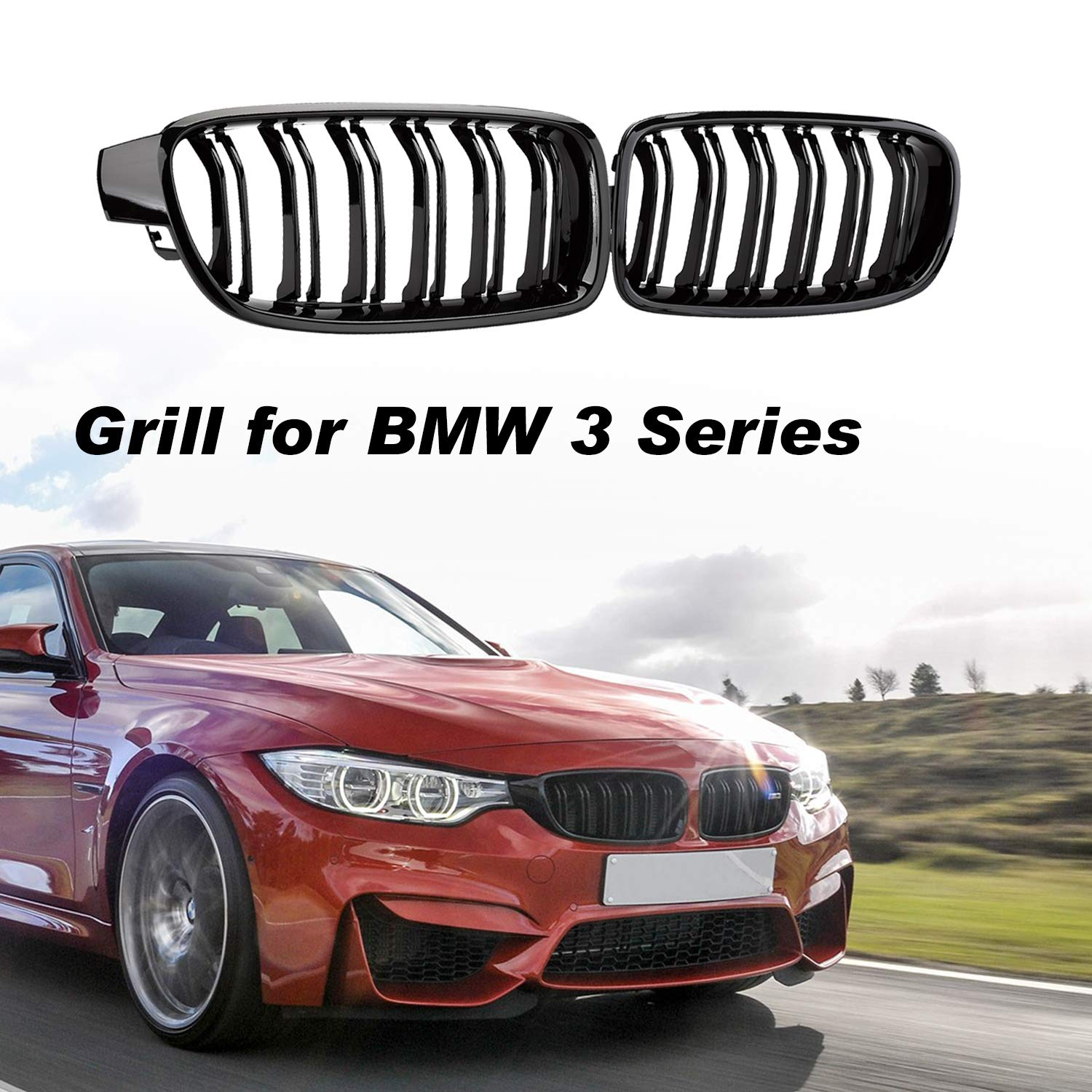 Amazon Com Seven Sparta Front Grill For Bmw F30 F35 Abs Grille For