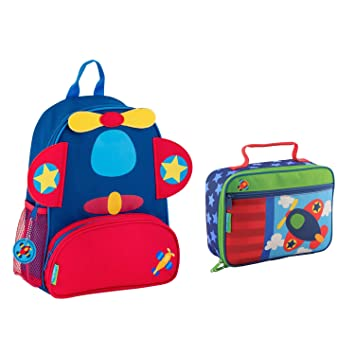 16325f1fa66a Stephen Joseph Boys Sidekick Airplane Backpack and Lunch Box for Kids   Amazon.co.uk  Sports   Outdoors