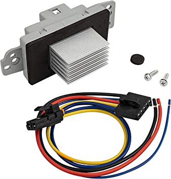 Suburban Cadillac Escalade PartsSquare Heater Blower Motor Resistor Complete Kit With Harness 1581773 89018778 Replacement for Chevy Silverado Tahoe AC Heater Control Module GMC Sierra Yukon