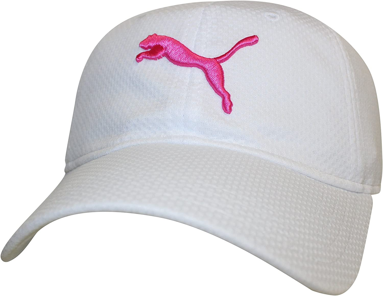 PUMA Womens Enola Relaxed Mesh Cap, White/Hot Pink, One Size ...