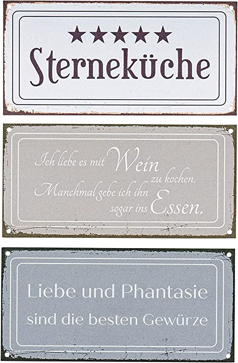 Blechschild Wandbild 20x30cm Metall SHABBY  Vintage