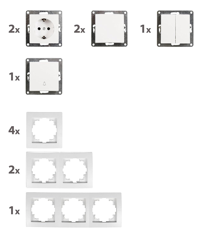 wei/ß mit Klingeltast 13-teilig FLAIR Set Flur