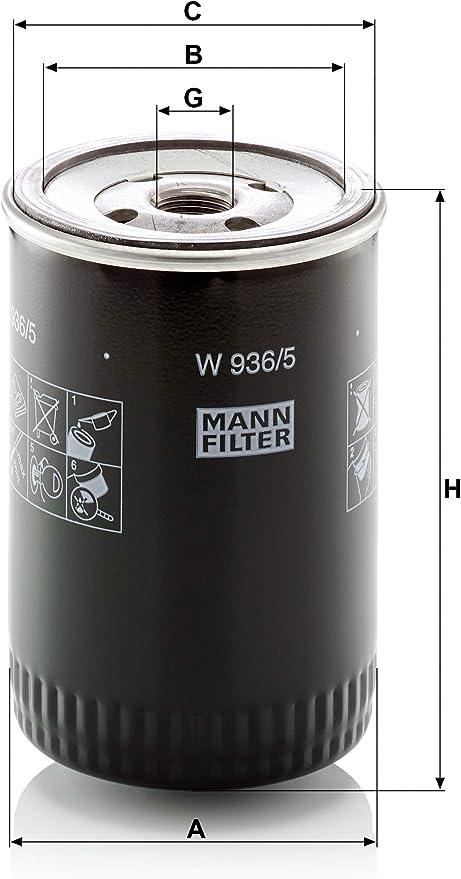 Original Mann Filter W 936 5 Schmierölwechselfilter Für Industrie Land Und Baumaschinen Auto