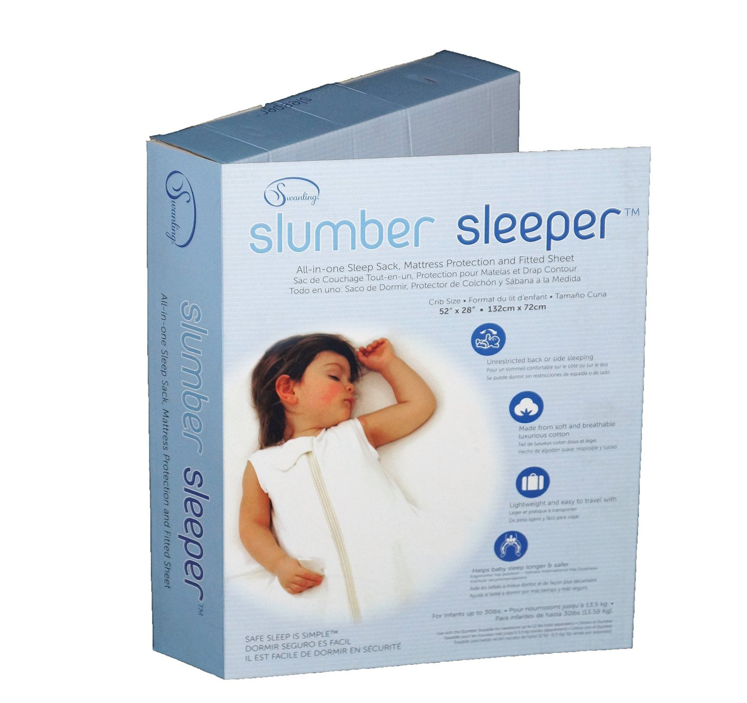 Slumber Sleeper Crib Size in Cotton/Spandex by Swanling Innovations Inc.: Amazon.es: Bebé