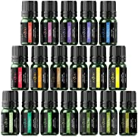 Anjou Essential Oils Set (18 x 5 mL Oils, 100% Pure Lavender, Sweet, Tea Tree, Eucalyptus, Lemongrass, Peppermint,...
