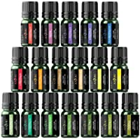 Anjou Essential Oils Set (18 x 5 mL Oils, 100% Pure Lavender, Sweet, Tea Tree, Eucalyptus, Lemongrass, Peppermint, Bergamot, Frankincense, Lemon, Rosemary, Cinnamon, Ylang Ylang and Other 6)